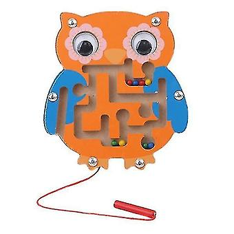 Mechanical puzzles children magnetic maze toy wooden puzzle game owl