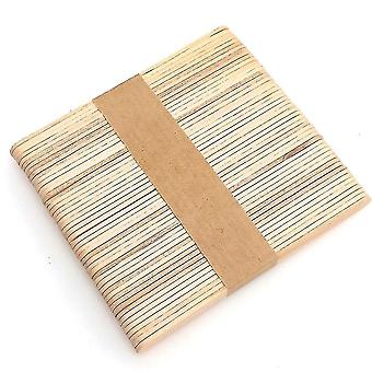 Waxing kits supplies 50 piece set of multi functional eco friendly natural wood popsicle sticks for waxing procedures