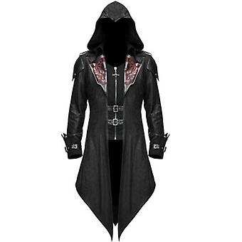 Herren Gothic Medieval Tailcoat Jacke