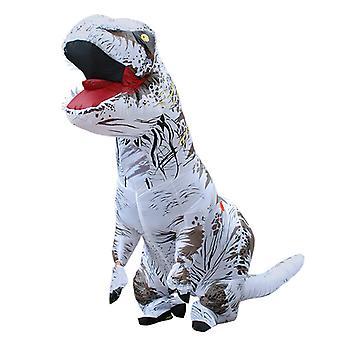 Fehér Felnőtt Tyrannosaurus Rex felfújható ruházat gyermek dinoszaurusz jelmez