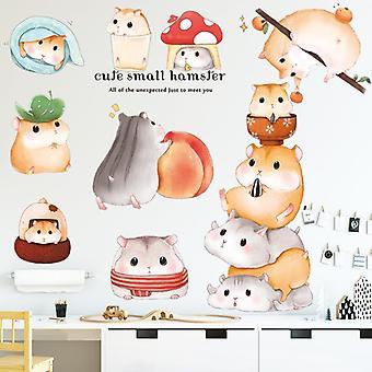 Mooie Hamster Muursticker Sticker Kinderen Kamer Decoratie Kunst Pasta