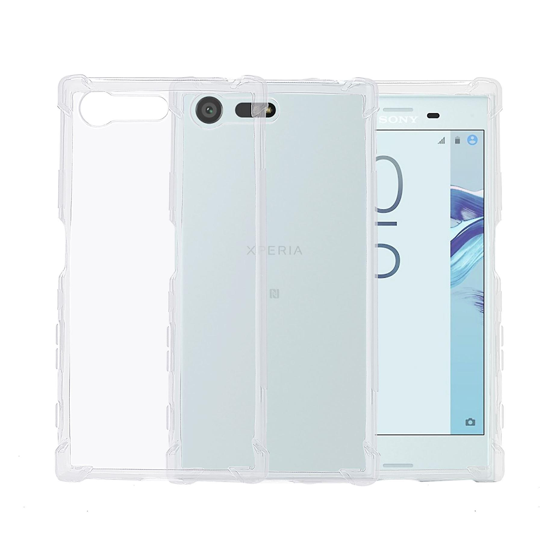 32nd Tough Gel case + stylus for Sony Xperia X Compact - Clear