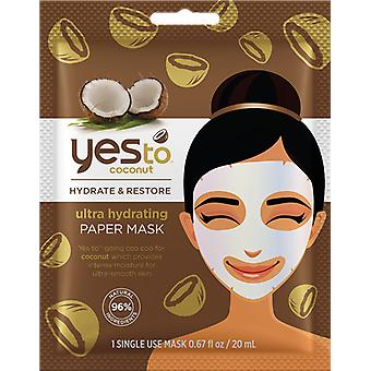 Yes To Coconut Paper Mask Single Pack