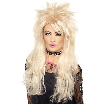 80-as évek Long Vokuhila WIG Blonde