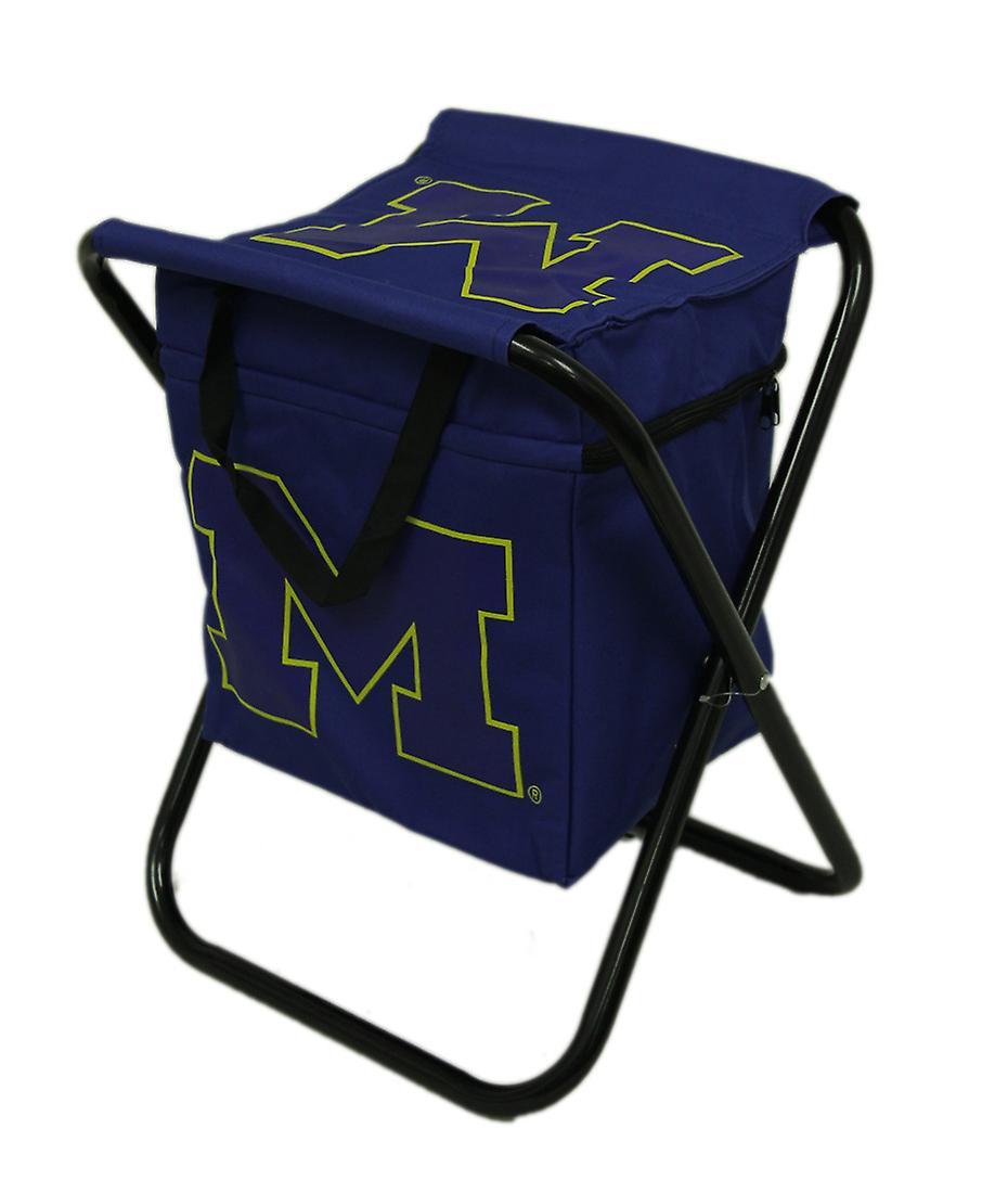 Universidad de Michigan Wolverines Logo portátil plegable asiento enfriador