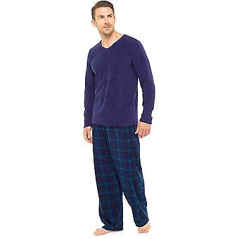 Tom Franks Mens varm Fleece pyjamas Lounge slitage