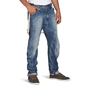 G-Star Arc 3D Tapered Braces Aged Wash Oligo Denim Jeans