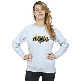 DC Comics Women's Justice League Movie Batman Logo Textured Sweatshirt