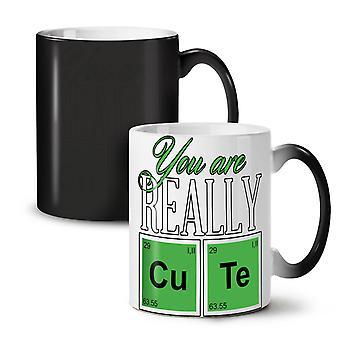 Geek chemii ładny nowy czarny kolor zmieniających herbata kawa ceramiczny kubek 11 oz | Wellcoda