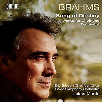 Brahms / Martin - Song of Destiny / Works for Choir & Orchestra [CD] USA import