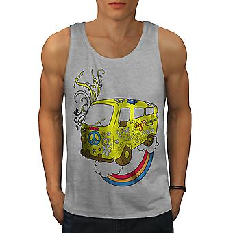 Peace Love 42 Rasta Men GreyTank Top | Wellcoda