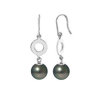 Boucles d'Oreilles Pendantes Perles de Tahiti et Argent 925/1000
