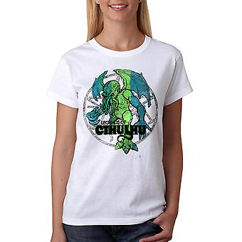 Warpo Cthulhu Distressed Women's White T-shirt