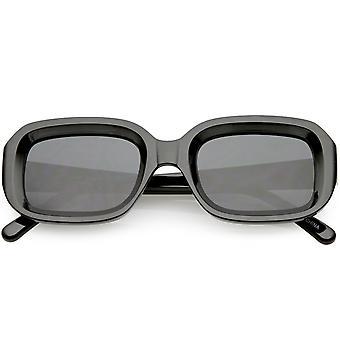 Chunky rechthoek zonnebril neutraal gekleurde Lens 50mm