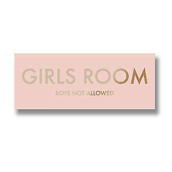 Hill interiør piger værelse drengene ikke lov tilbud væg Plaque