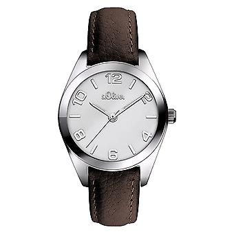s.Oliver women's watch wristwatch leather SO-3371-LQ