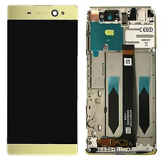 Sony display LCD complete unit with frame for Xperia XA ultra F3211 gold spare part