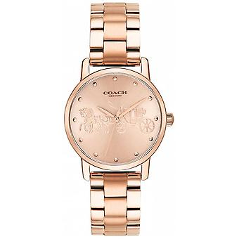 Valmentaja Naisten Grand Rose Gold Rannekoru & Case 14502977 Watch