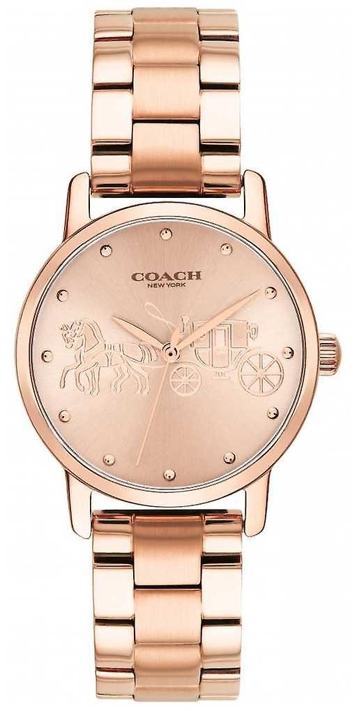 Coach Womens Grand Rose Gold Bracelet & Case 14502977 Watch