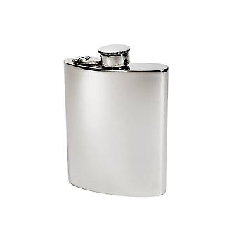 6Oz Plain Pewter Kidney Hipflask With Captive Top