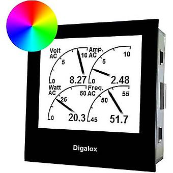 TDE Instruments DPM72-MPN Digital rack-mount meter Digalox DPM 72-MPN graphical DIN-measuring device for 500V/60mV DC with multi-display and RGB backlight