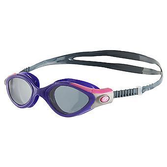 Speedo Futura Biofuse 2 Polarised Womens Swim Goggles - Smoke Lens -Purple/Grey