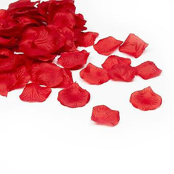 500 Silk Rose Petals | Red Silk Rose Petals | For Weddings Decoration DYI Creative Projects Saint-Valentin Flowers | Pack of 100