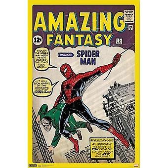 スパイダーマン - マーベル コミック カバー ポスター ポスター印刷