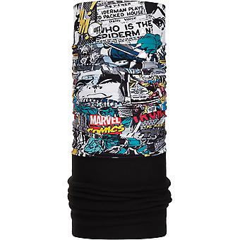 Buff Nowy Polar Neck Warmer w Superheroes Comic Pop Power / Black