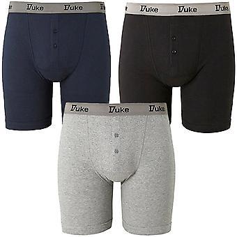 Herzog D555 Mens King Size Big groß 3 Pack Buttonfly Baumwolle Boxershorts Trunks