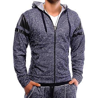 Men & Women's Hoodie Trend Hoodie Sweat Jacket Pullover Melange Hi-Top Zip