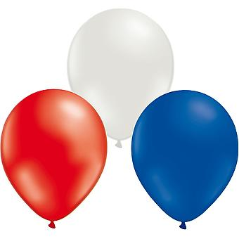 Ballon Combo 24-Pack Mix de Rouge, Bleu et Blanc