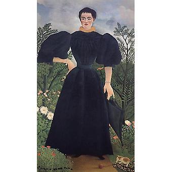 Portrett av en kvinne, Henri Rousseau, 80x40 cm