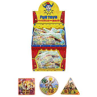 Henbrandt Childrens/Kids Pirate Maze Puzzle (Pack Of 96)
