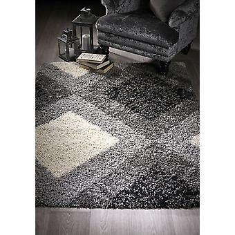 Diamant Shaggy graue Rechteck Teppiche moderne Teppiche