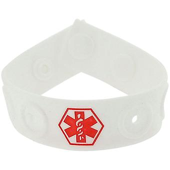 Fashion Alert Kids  Diabetes Rubber Medical ID 19cm Adjustable wristband