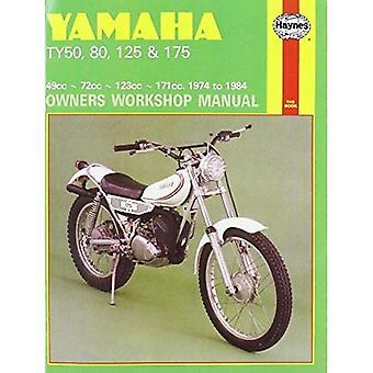 Yamaha TY50, TY80, TY125 en TY175 1974-84 Workshop handleiding (motorfiets handleidingen)