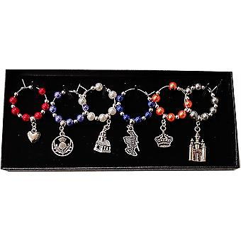 Wine Glass Charms - Mary Queen of Scots Inspired by Craftilydunn