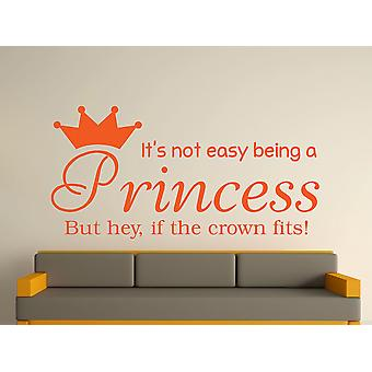 Being A Princess Wall Art Sticker - Orange