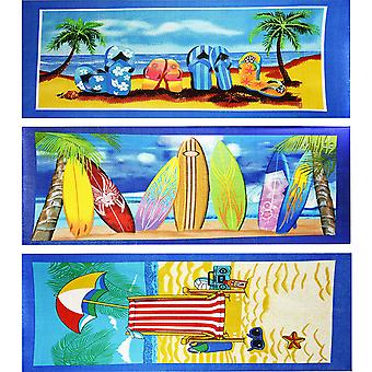 Grote lichtgewicht microvezel strand vakantie badhanddoek