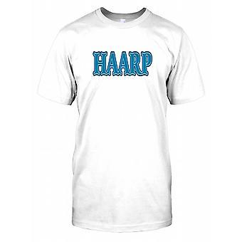 Camisa de T de crianças de conspiração HAARP - programa de pesquisa Auroral ativo de alta frequência-