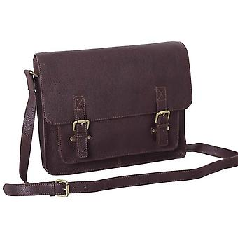 Ashwood Leather Chelsea Veg Tan Josh Satchel Bag - Brown