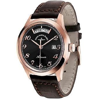 Zeno-watch mens watch gentleman automatic 6662-2834-PGR-f1