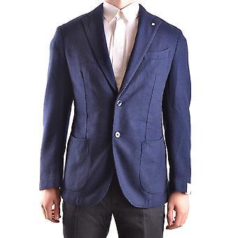 L.b.m. Ezbc215006 Men's Blue Cashmere Blazer