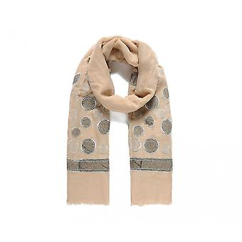 Intrigue Womens/Ladies Detailed Circle Embroidered Scarf
