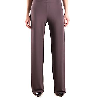One Ezbc267007 Women's Brown Viscose Pants