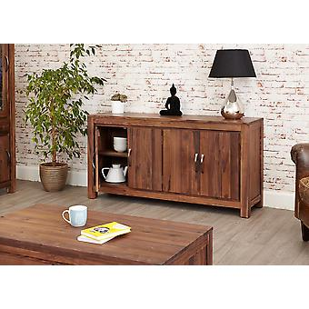 Mayan Walnut Large Low Sideboard Brown - Baumhaus