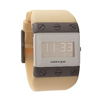 Wize and Ope Willys  Cream Digital  Watch WO-WIL-3