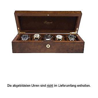 Rapport London Watch Box Burr Walnut 5 Watch Box L274