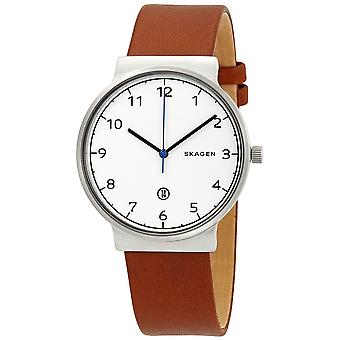 Skagen Ancher Cognac leder Mens Watch SKW6433
